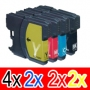 Compatible Brother LC-39 Ink Cartridge Set (4BK,2C,2M, 2Y) Pack of 10