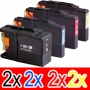 Compatible Brother LC-73 Ink Cartridge Set (2BK,2C,2M, 2Y) Pack of 8