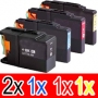 Compatible Brother LC-77XL Ink Cartridge Set (2BK,1C,1M, 1Y) Pack of 5