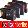 Compatible Brother LC-73 Ink Cartridge Set (1BK,1C,1M, 1Y) Pack of 4