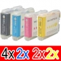 Compatible Brother LC-57 Ink Cartridge Set (4BK,2C,2M,2Y) Pack of 10