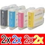 Compatible Brother LC-57 Ink Cartridge Set (2BK,2C,2M,2Y) Pack of 8
