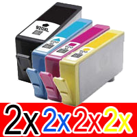 Com2 x Set of Compatible HP 920XL High Capacity Ink Cartridge (2BK, 2C, 2M,2Y, ) Pack of 4, $64.25patible HP 920XL High Capacity Ink Cartridge Set (2BK, 2C, 2M,2Y) Pack of 8