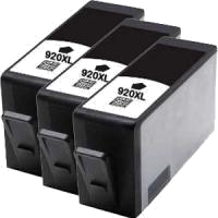 Compatible HP 920XLBK High Capacity Black Ink Cartridge (3BK) CD975AA PACK OF 3