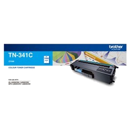 Genuine Brother TN-341C Cyan Toner Cartridge