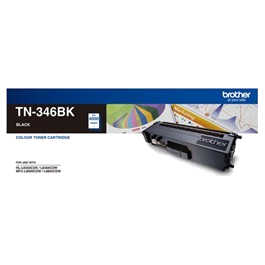 Genuine Brother TN-346BK Black Toner Cartridge High Yield