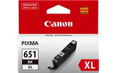 Genuine Canon CLI-651XLBK Black Ink Cartridge High Yield