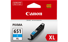 Genuine Canon CLI-651XLC Cyan Ink Cartridge High Yield