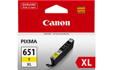 Genuine Canon CLI-651XLY Yellow Ink Cartridge High Yield