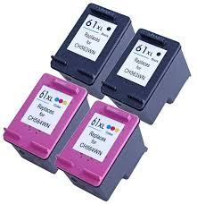 Compatible HP 61XL Black and Colour Ink Cartridge Set of 2  (1BK,1C) CH563WA CH564WA