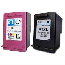 Compatible HP 61XL Black & Colour Ink Cartridge Pack of 2  (1BK,1C) CH563WA CH564WA