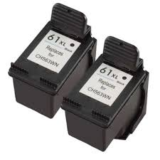 Compatible HP 61XL Black Ink Cartridge Pack of 2 CH563WA