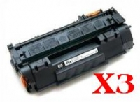 Value Pack-3 Compatible HP Q7553X Toner Cartridge 53X